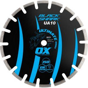 Image for OX Ultimate UA10 Black Shark Segmented Diamond Blade - Asphalt