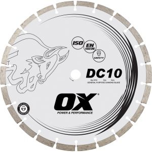 Image for OX DC10 Standard Seg. Gen. Purpose Diamond Blade