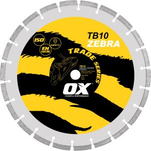 Image for OX Trade Segmented Diamond Blade - Abrasive