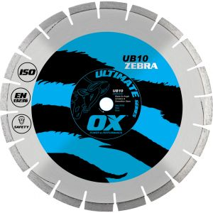 Image for OX Ultimate UB10 Segmented Diamond Blade - Abrasive