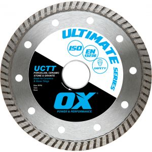 Image for OX Ultimate UCTT Thin Turbo Diamond Blade - Porcelain